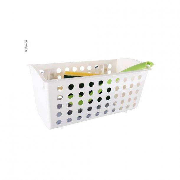 Opbevaringskurv med 2 sugekopper – Hvid plast