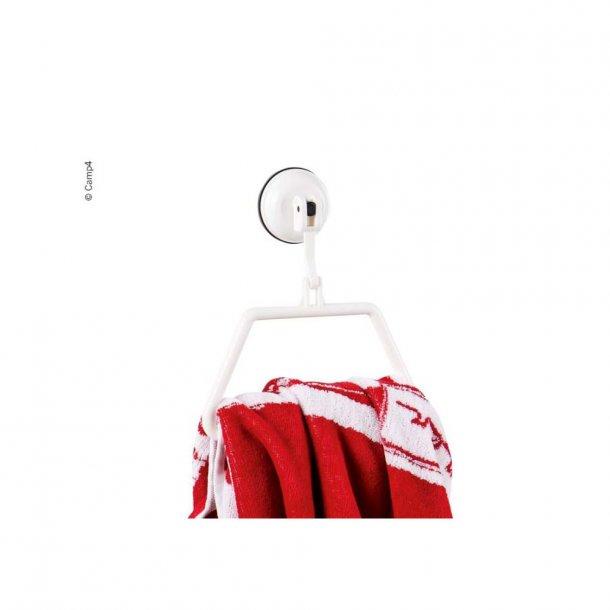 Håndklædeholder med sugekop – Hvid plast