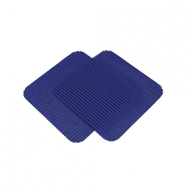 Måtte til håndvasken – 32 x 32 cm – 2 stk. blå