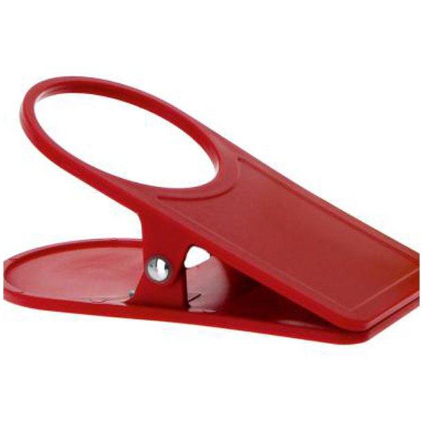 Kop og Glasholder - Rød