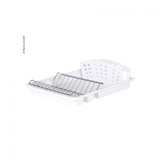 Opvaskestativ med holder til tallerkner og bestik