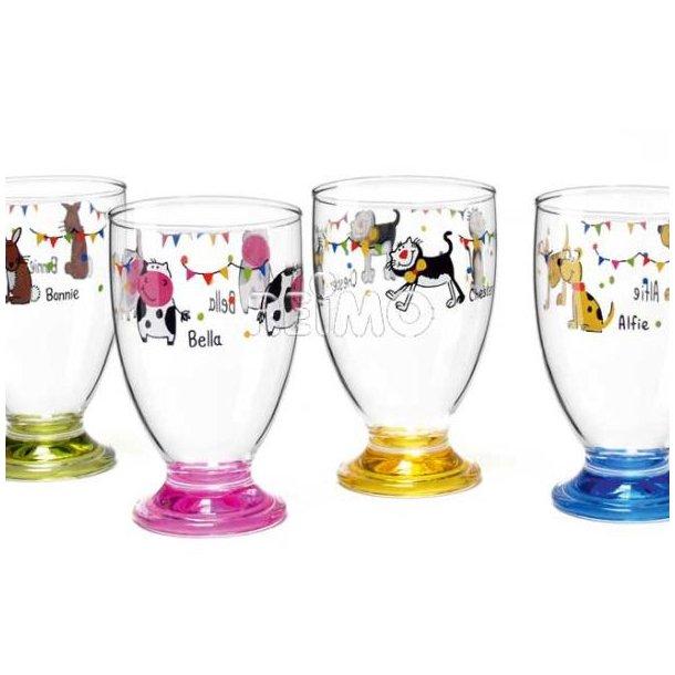Charlie og Venner glas til børn – 4 stk