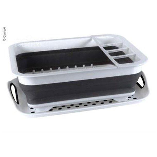 Opvaskestativ med drypbakke - foldbar