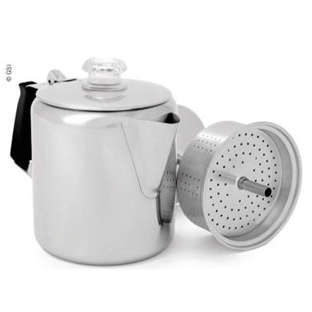Percolator/kaffebrygger 0,9 L (6 kopper) rustfri stål