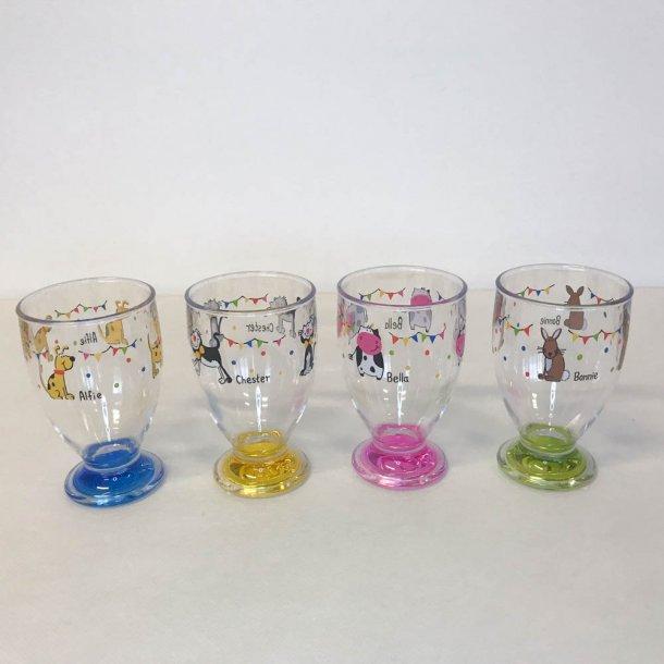 Drikkeglas til børn - Charlie & Friends - sæt med 4 glas