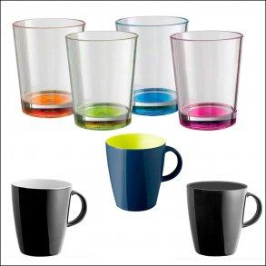 Glas og kopper