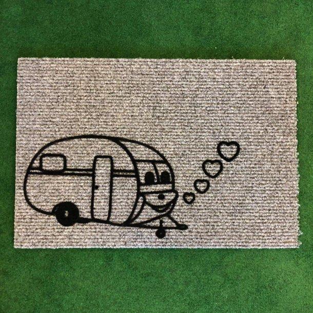 Dørmåtte med drømmende campingvogn - stor