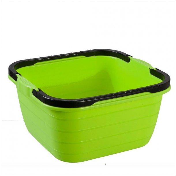 Cleo kvadratisk opvaskespand med 2 hanke – 13 l.