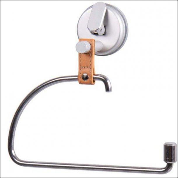 Praktisk toiletrulleholder med sugekop i eksklusivt design