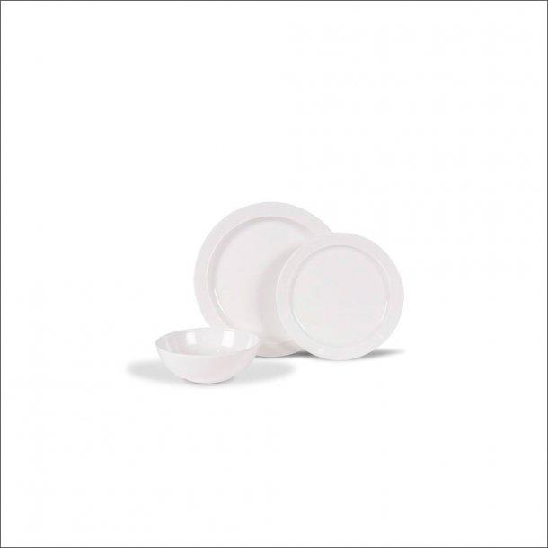 Classic White Non-Slip servicesæt i 12 dele