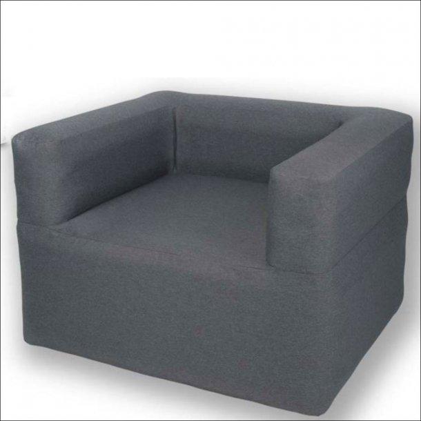 Oppustelig stol fra Holiday Travel, gråmeleret