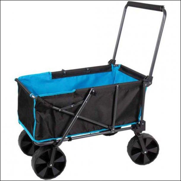 Praktisk trækvogn med brede gummihjul