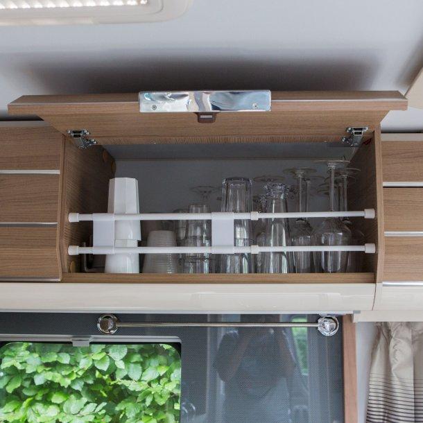 Dobbeltstang til skabe og køleskab - Lang