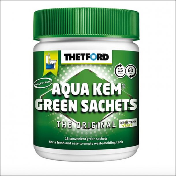 Aqua Kem Green Toilettabs 15 stk.
